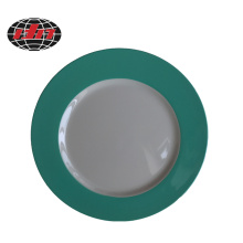 Plaque de charge en plastique vert et blanc