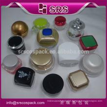 SRS Unique jar packaging , plastic nail jar,5g clear cosmetic jars for uv gel