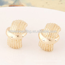 gold jewelry low MOQ gorgeous simple gold earring designs for women