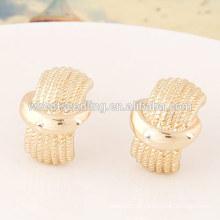 Jóias de ouro baixo MOQ lindo brinco de ouro simples desenhos para mulheres