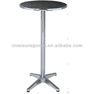 Круг алюминиевый бистро стол