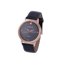 classic time-teller polished rose gold stainless steel watches ladies with premium blush leather band