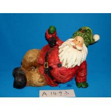 Lustig, Santa für Weihnachtsdekoration zu spielen