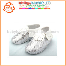 New baby born moccasins shoes cute sliver sequin baby shoes