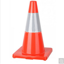 "Reflective Tape 18"" Flexible Bright Orange PVC Traffic Cone"