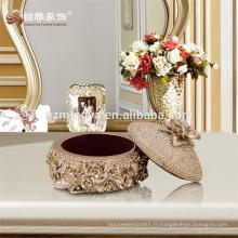 Décoration de jardin artisanale pour bijoux souvenirs avec embossage Ensemble de bijoux Ensemble d'emballage Boîte à emporter