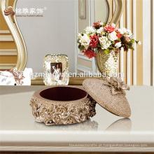 Decoração de jardim artesanal para lembrança caixa de jóias com jóias em relevo conjunto caixa de embalagem caixa de embalagem de jóias