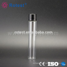 tubo de ensayo de vidrio de laboratorio con tapón de rosca