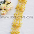 Light Golden Plastic Pearl Beaded Garland With 3+8MM Beads