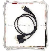 2 en 1 USB 2.0 3A cable macho Alimentación / datos Y