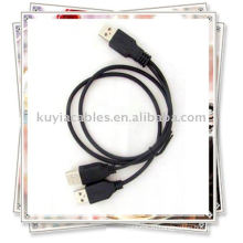 2 в 1 USB 2.0 3A мужской кабель Питание / Данные Y