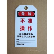 Bloqueo de PVC salida de etiquetas bloqueo y dispositivos de etiqueta etiquetas de seguridad etiquetas