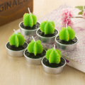 Artificial Green Plants Candle
