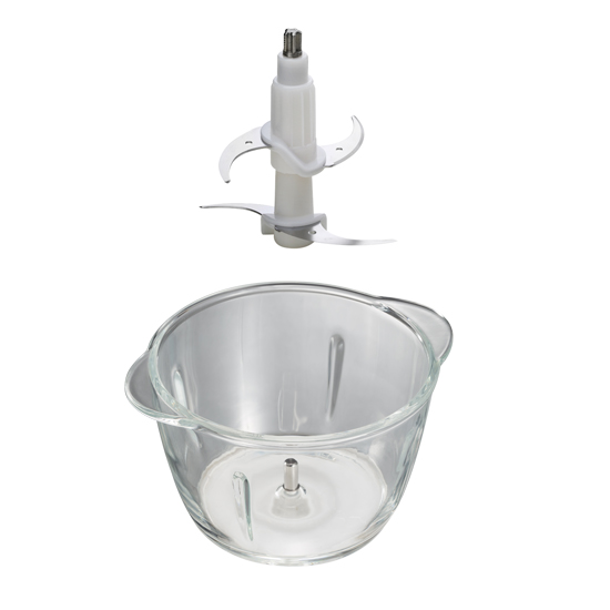 Glass Bowl Chopper With Double Blades