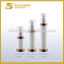 15ml / 30ml / 50ml pp cosmétiques bouteille sans air, revêtement uv rond bouille sans air, bouteille d'emballage cosmétique