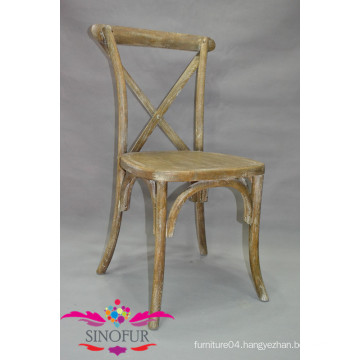 Solid wood cross back chair