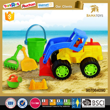 Hot Selling beach toy set sand beach cart with 5pcs accessory