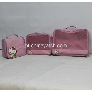 Cute Hello Kitty Organizer impermeável Set Bag