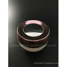 Gants de crème acrylique en forme de bol pour emballage cosmétique