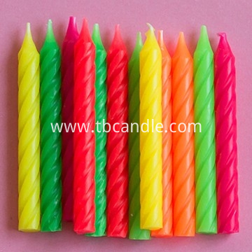 colorful pillar birthday candle