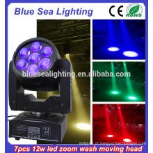 7pcs12w Beam lavar LED Moving Head RGBW 4 em 1