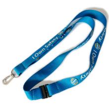 Cordones de transferencia de calor de la hebilla de seguridad de color azul para el titular de insignias