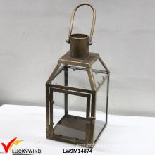 Französische Land-Art-dekorative Metalllaterne-Kerze-Halter
