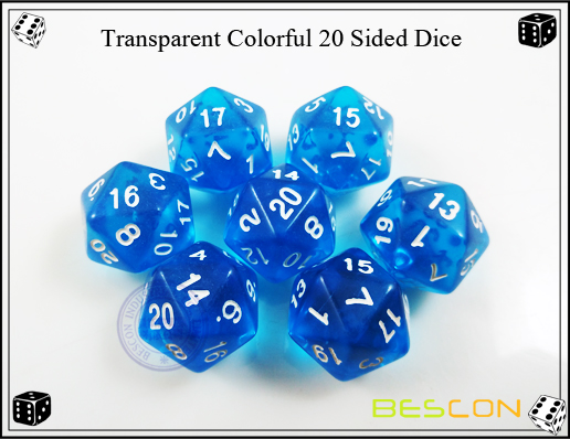 Transparent Colorful 20 Sided Dice-3
