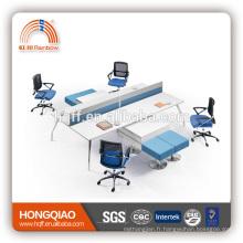 (MFC) PT-03-1 meubles de bureau de cadre en acier inoxydable de haute qualité pour 4 personnes poste de travail