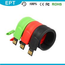 Movimentação feita sob encomenda da pena do flash de USB da correia de marcagem com ferro quente relativa à promoção
