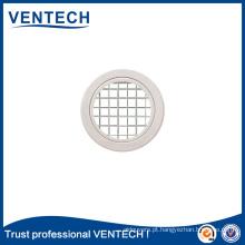 Venda quente Sistemas HVAC Ar condicionado Grelha redonda de caixinha de ovo de alumínio