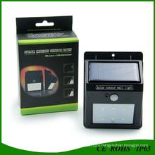 Outdoor Wall Mounted LED Solar Light with PIR Sensor