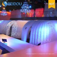 Soirée de mariage à LED Camping Dome Tent Mini pistolet gonflable Hard Shell Roof Top Event Tents