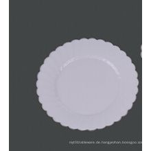 """Runde harte Plastikblumen-Hochzeits-Party-weiße Platte 10 """""""