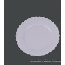 "Placa de plástico dura redonda da festa de casamento da flor 10 """