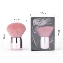 Single Handle Vegan Hair Makeup Brush Mineral Powder Foundation Brush Rose Gold Blush Brush Cosmetics Makeup Tool
