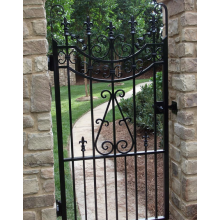 Black Paint Wrought Iron Gates