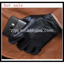 men genuine leather touch glove