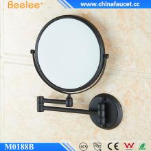 Fashionable Wall Mounted Mirror Black Retractable Compact Mirror