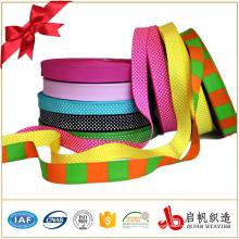 Polyester imprimé coloré Chine en gros ruban satin