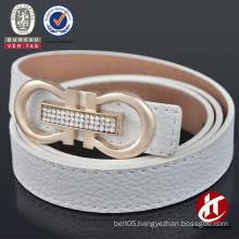 Women's epplise rhinestone buckle PU belt