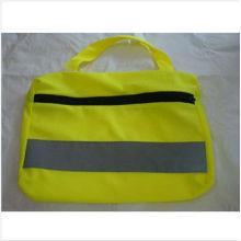 Saco de segurança reflexivo amarelo com fita reflexiva