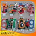 Velas de pastel de cumpleaños con número único y diseño único de alta calidad