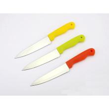 """5 """"couteaux en acier inoxydable, couteaux à légumes, couteau de cuisine avec poignée en plastique"""