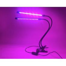 Flexible Klemme 2 Köpfe wachsen Pflanzen wachsen LED