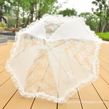 Hand craft made lace decoration bridal party wedding lace umbrella
