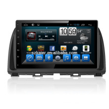 Quad core car gps navigation with wireless rearview camera,wifi,BT,mirror link,DVR,SWC for Mazda cx-5