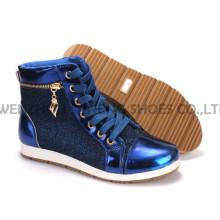 Calçados Femininos Sapatos de Lazer PU com Corda Sola Snc-55013
