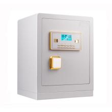сейф с цифровым паролем и ключом белый сейф