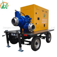 Sewage Transportation Self Priming Diesel Trailer Pump